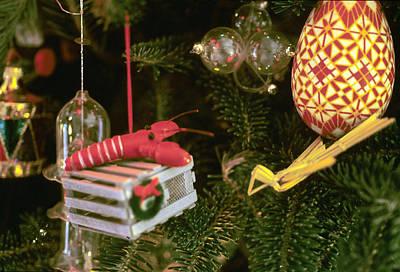 Christmas Ornaments I Poster by Harold E McCray
