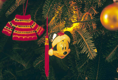 Christmas Ornaments Iv Poster by Harold E McCray