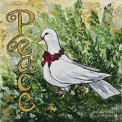 Christmas Peace Dove Poster