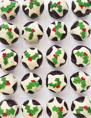 Christmas Pudding Chocolates Pattern Poster