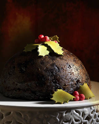 Christmas Pudding Poster by Amanda Elwell