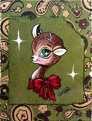 Christmas Reindeer Poses So Pretty Poster
