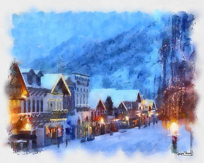 Poster featuring the painting Christmas Scenes 2 by Wayne Pascall