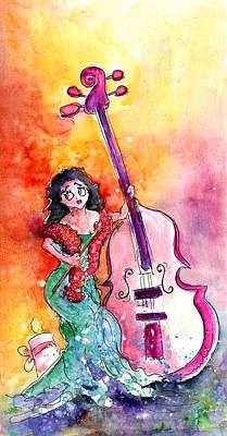 Christmas Sea Bass Poster by Miki De Goodaboom