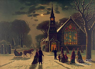 Christmas Service 1878 Poster by Padre Art