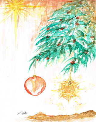 Poster featuring the painting Christmas Star by Teresa White