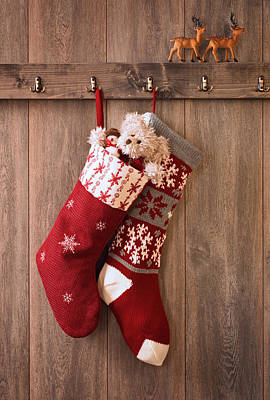 Christmas Stockings Poster by Amanda Elwell