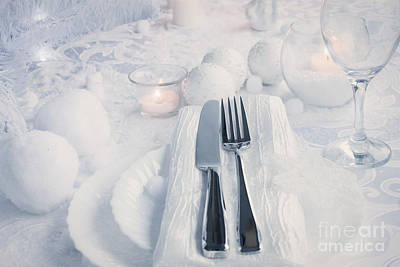 Christmas Table Setting Poster by Mythja  Photography