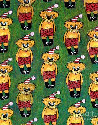 Christmas Teddies Poster by Genevieve Esson