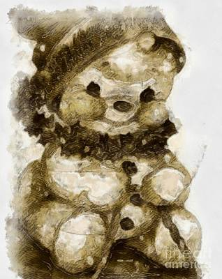 Christmas Teddy Bear Poster
