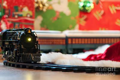 Christmas Train II Poster by Eddie Yerkish