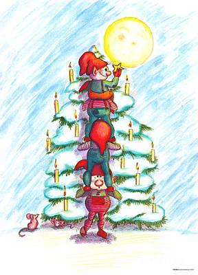 Christmas Tree Poster by Ghita Andersen
