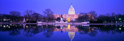 Christmas, Us Capitol, Washington Dc Poster by Panoramic Images