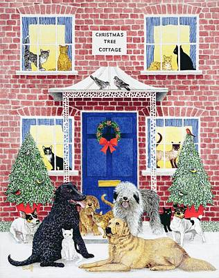 Christmas Warmth Oil On Canvas Poster by Pat Scott