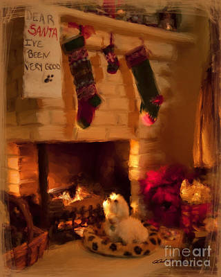 Maltese Christmas Wish Poster by Andrea Auletta