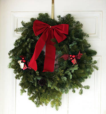 Christmas Wreath Poster by John Rizzuto