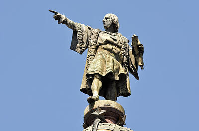 Christopher Columbus Day Statue Poster