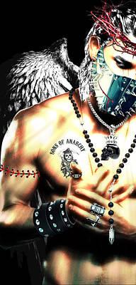 Christy Angel Mask Half Poster by Jean raphael Fischer