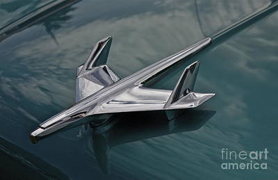 Chrome Airplane Hood Ornament Poster by Linda Bianic