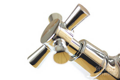 Chrome Tap Abstract  Poster by Simon Bratt Photography LRPS