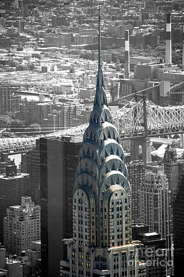 Chrysler Building Poster by Angela DeFrias