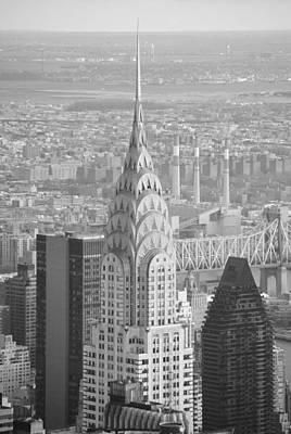 Chrysler Building Black And White Poster