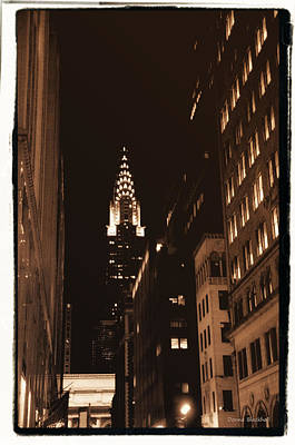 Chrysler Building Poster by Donna Blackhall
