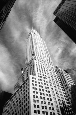 Chrysler Building Infrared Poster by Dave Beckerman