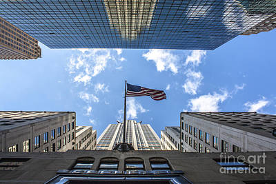 Chrysler Building Reflections Horizontal Poster by Nishanth Gopinathan