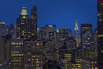Chrysler Building Twilight Poster by Susan Candelario