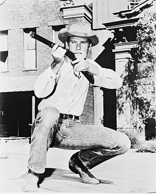 Chuck Connors In The Rifleman Poster by Silver Screen