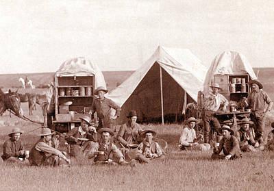 Chuckwagons And Cowboys, 1887 Poster