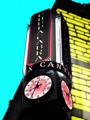 Chupaca Bar Clock Poster by James Granberry
