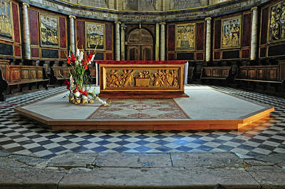 Poster featuring the photograph Church Alter Provence France by Dave Mills