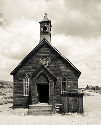 Poster featuring the photograph Church At Bodie by Jim Snyder
