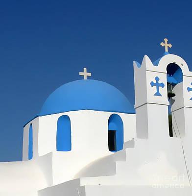 Church At Myconos Poster by A K Dayton