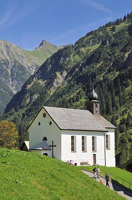 Church In Kleinwalsertal Valley Austria Poster