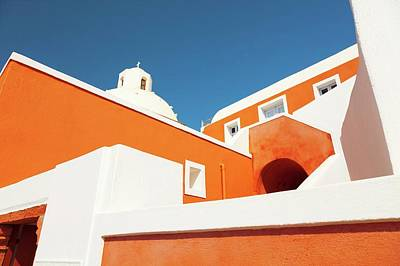 Church In Santorini Poster by Wladimir Bulgar