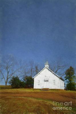 Church In The Suburbs Of Eureka Springs  Arkansas Poster
