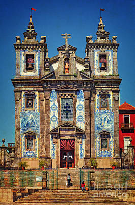 Church Of Saint Ildefonso - Porto Poster by Mary Machare