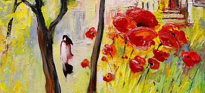 Church Of The Blood Red Poppies 02 Poster by Miki De Goodaboom