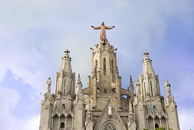 Church Of The Sacred Heart Tibidabo Barcelona  Poster