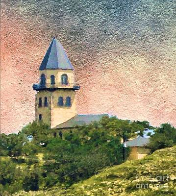 Church On Hill Poster by Janette Boyd