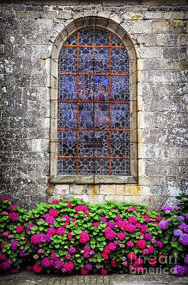 Church Window In Brittany Poster