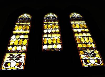 Church Windows Poster by Image Takers Photography LLC - Laura Morgan