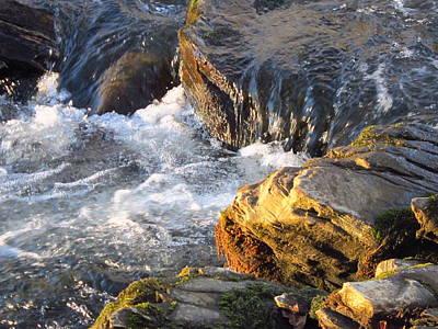 Churning Little Waterfalls On The Watauga Poster