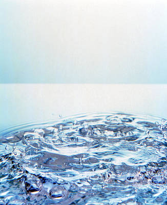 Churning Water Bubbles In Bright Light Poster