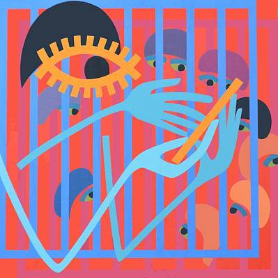 Cica, 1966 Acrylic On Board Poster