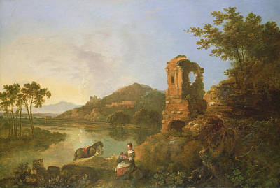 Ciceros Villa Oil On Canvas Poster by Richard Wilson