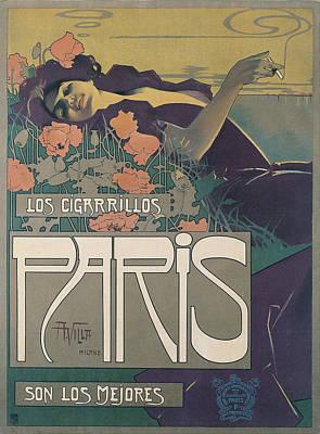 Cigarrillos Paris Poster by Aleardo Villa